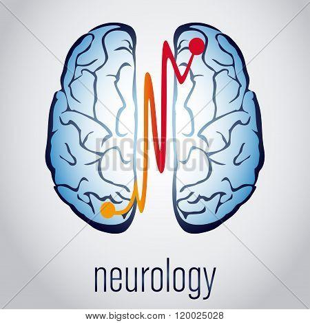 Abstract creative neurology concept with human brain