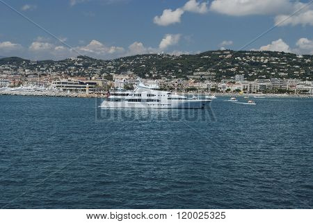 Large super yacht anchored at Monte Carlo
