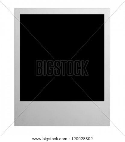 photo isolated polaroide on the white backgrounds