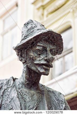 Portrait Statue Of Naci In Banska Stiavnica, Slovakia