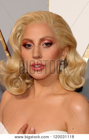 LOS ANGELES - FEB 28:  Lady Gaga at the 88th Annual Academy Awards - Arrivals at the Dolby Theater on February 28, 2016 in Los Angeles, CA
