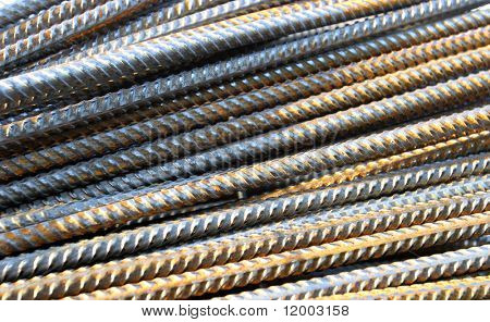 Close-up of steel bars