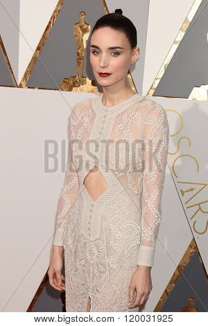 LOS ANGELES - FEB 28:  Rooney Mara at the 88th Annual Academy Awards - Arrivals at the Dolby Theater on February 28, 2016 in Los Angeles, CA