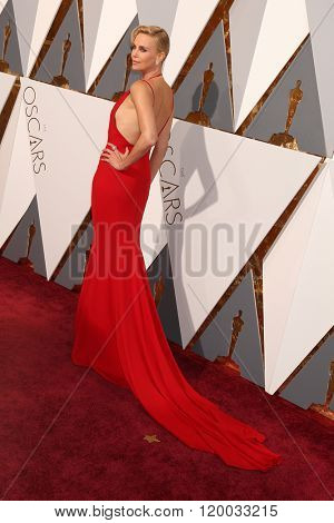 LOS ANGELES - FEB 28:  Charlize Theron at the 88th Annual Academy Awards - Arrivals at the Dolby Theater on February 28, 2016 in Los Angeles, CA