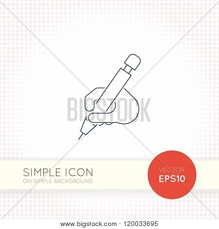 Extra thin line design vector universal pencil icon. Elements for user interface.