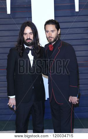 BEVERLY HILLS - FEB 28: Alessandro Michele, Jared Leto at the 2016 Vanity Fair Oscar Party on February 28, 2016 in Beverly Hills, California