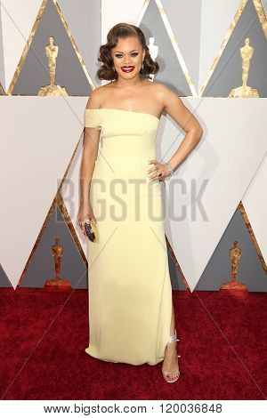 LOS ANGELES - FEB 28:  Andra Day at the 88th Annual Academy Awards - Arrivals at the Dolby Theater on February 28, 2016 in Los Angeles, CA