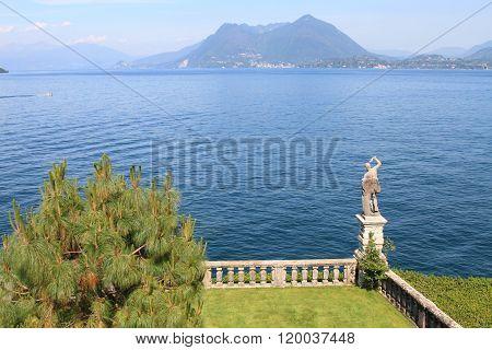 garden and Lake Maggiore, Italy
