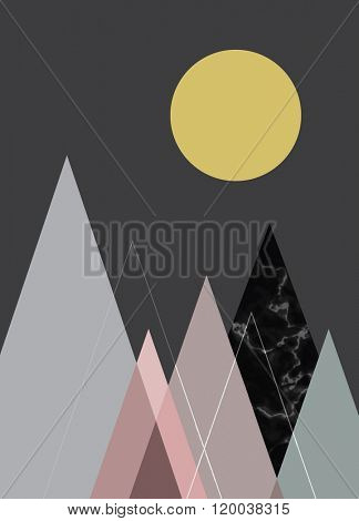Abstract geometric background, poster design