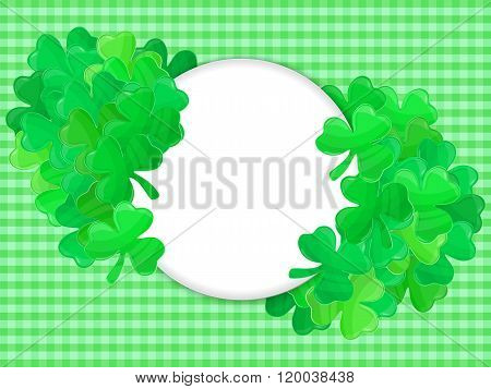 Patricks Day Green Clover Frame Cartoon 1