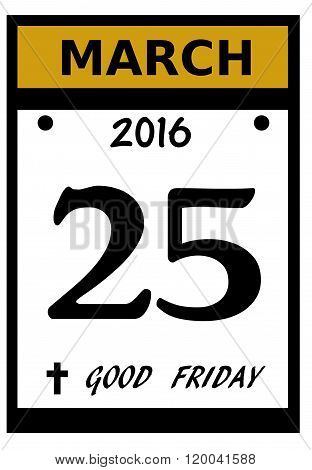 2016 Good Friday date