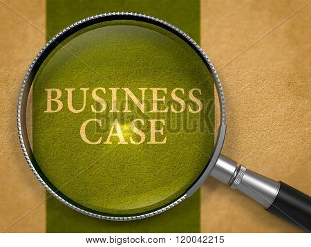 Business Case through Lens on Old Paper.
