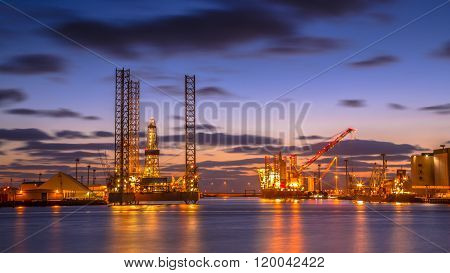 Oil Rig Construction Area