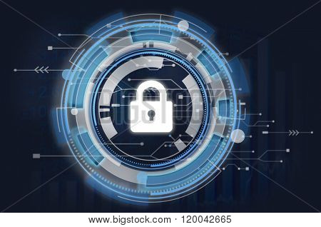 Information Technology Graphic Security Lock Icon Concept