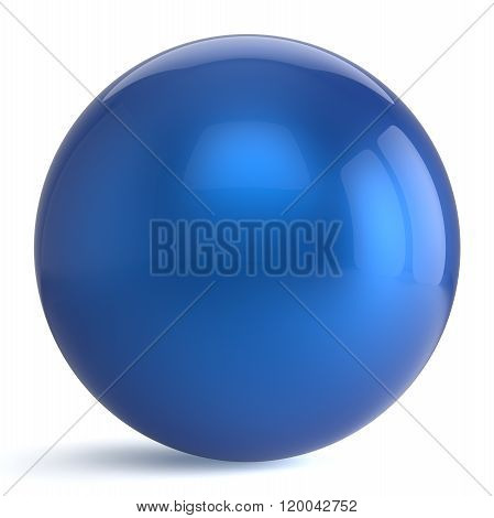 Sphere button round blue ball geometric shape basic circle solid figure simple element object blank balloon
