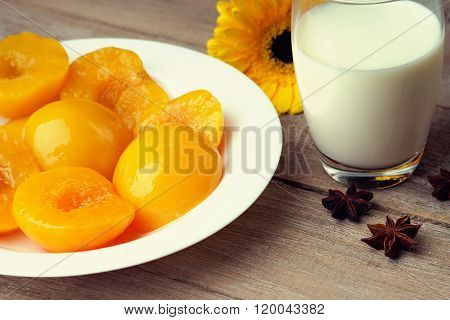 Peaches, milk, gerber and anise