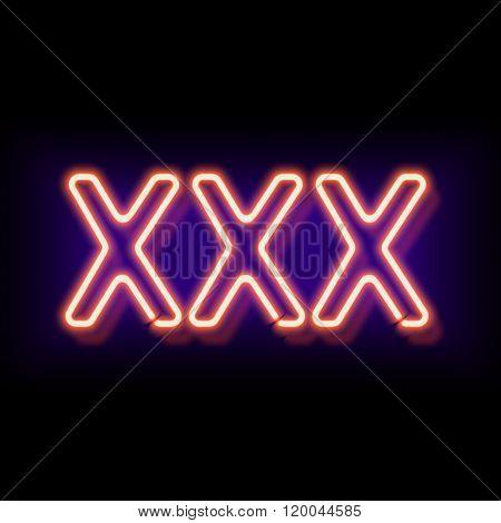 XXX Erotic neon sign