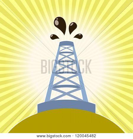 Oil derrick banner