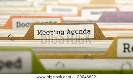 Meeting Agenda Concept on Folder Register.
