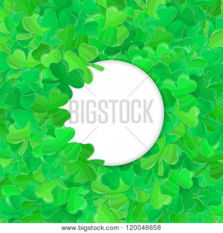 Patricks Day Green Clover Frame Cartoon White 2