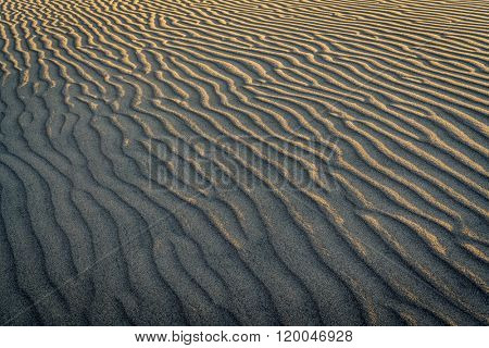 texture and pattern of a sand dune in Great Sand Dunes National Park,  Colorado
