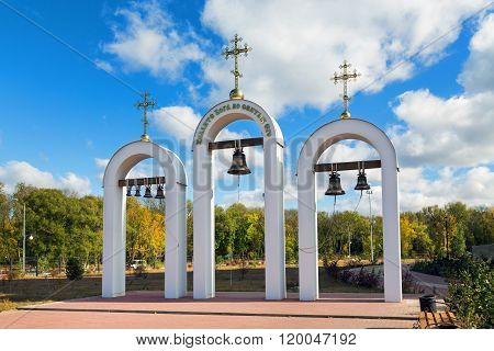 The belfry of St. Nicholas Cathedral. Valuyki. Russia