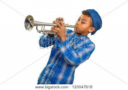 Boy trumpeter.