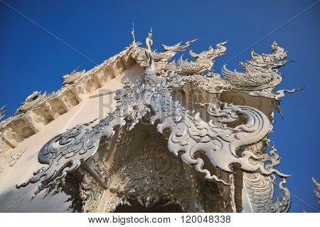 Wat Rong Khun Gable Closed Up..