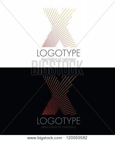 Letter X logo icon design template elements