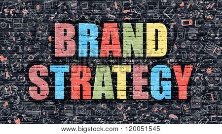 Brand Strategy on Dark Brick Wall.