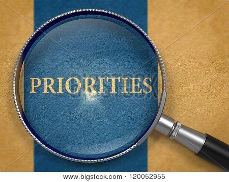 Priorities Concept through Magnifier.