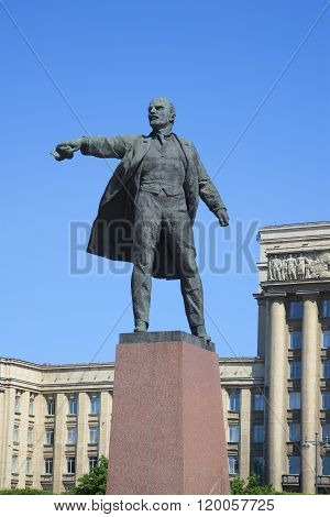 The sculpture of V. I. Lenin on Moscow square. St. Petersburg