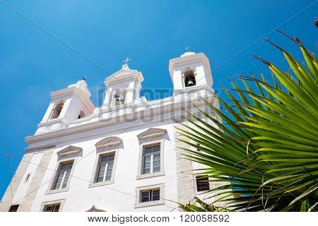 Small white church in Lisbon