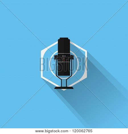 Gaming Gear Flat Icon Microphone