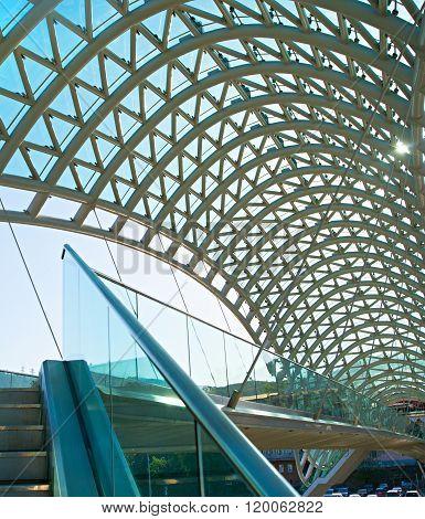 Peace Bridge Interior. Tbilisi, Georgia