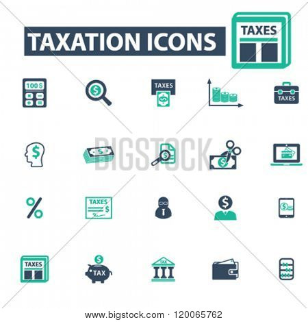 taxation icons