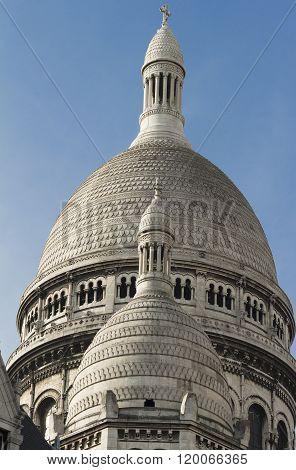 The Dome Of Sacre Coeur Basilica.