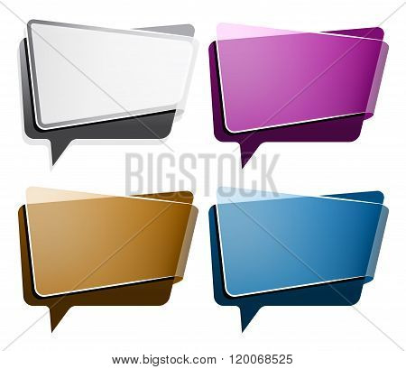Speech buble in different color