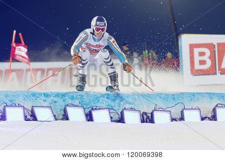 Fritz Dopfer Gross Skiing At A Slalom Event
