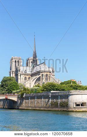 Cathedral Notre Dame Reims Champagne, River Seine, Paris, France