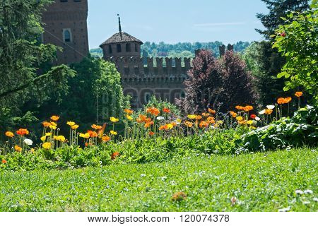Castle in the park, Turin, Italy