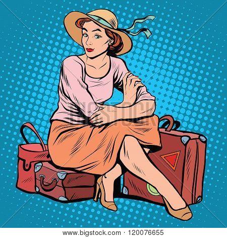 Lady tourist traveler