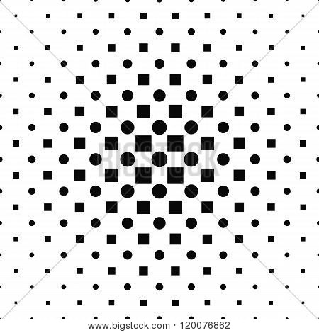 Repeating monochromatic square circle pattern