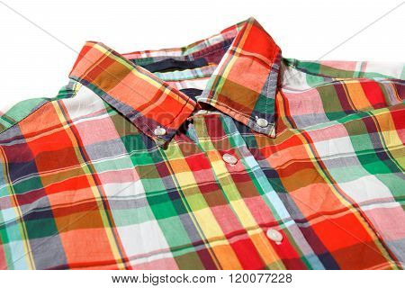 Red shirt button-up