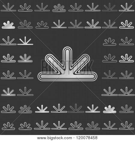Silver line corporate logo design set