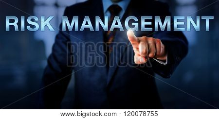 Corporate Executive Pressing Risk Management