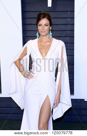 BEVERLY HILLS - FEB 28: Carolina Parsons at the 2016 Vanity Fair Oscar Party on February 28, 2016 in Beverly Hills, California