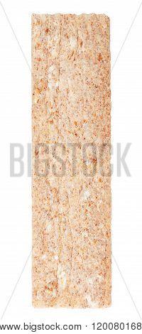 Slice Of Crispbread Isolated On White Background