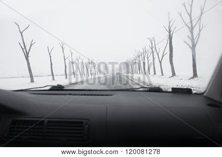 Winter Driving - Winter Road, Inside The Car