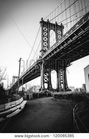 Manhattan Bridge above the Park
